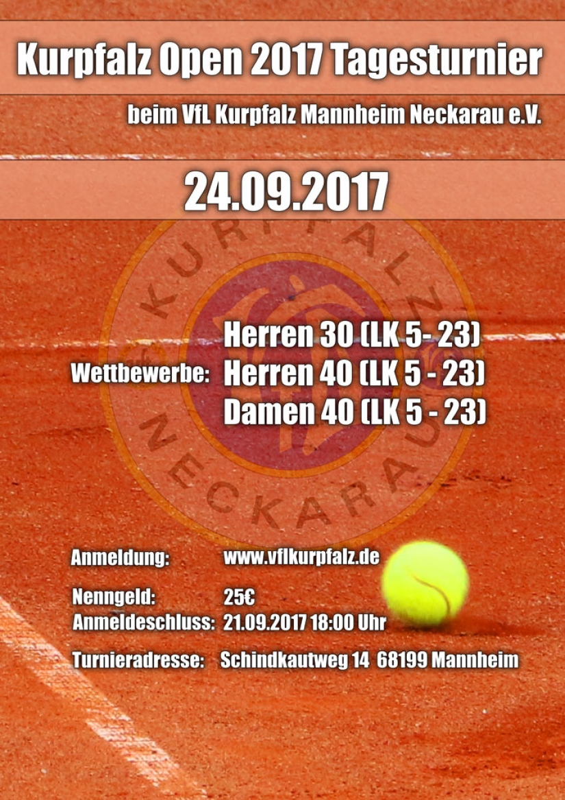 Kurpfalz Open 2017 Flyer
