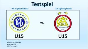 Testspiel gegen AFC Lightning Atlanta (U15)