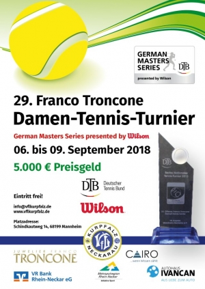 29. Franco Troncone Damen-Tennis-Turnier 2018